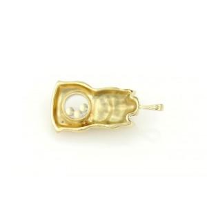 Chopard Happy Diamond 18K Yellow Gold with 0.05ct Diamond, Emerald and Ruby Dog Pendant