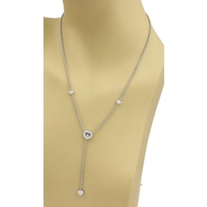 Chopard Happy Diamonds 18K White Gold with 0.40ctw Diamond Hearts Lariat Necklace