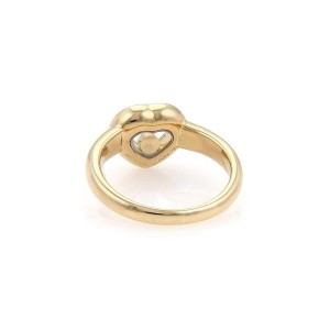 Chopard Happy Diamond 18K Yellow Gold with 0.28ct Diamond Heart Ring Size 6