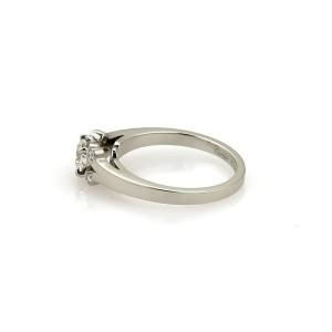 Cartier 950 Platinum & Diamond Solitaire Engagement Ring Size 4.5
