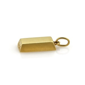 Cartier 18K Yellow Gold Ingot Bar Charm Pendant