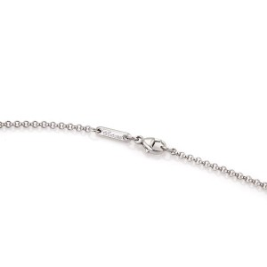 Chopard Happy 0.05ct. Diamond 18K White Gold Mini Heart Pendant Necklace