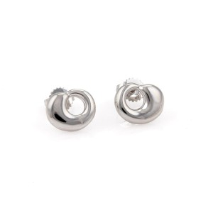 Tiffany & Co. Peretti 18K White Gold Eternal Circle Stud Earrings