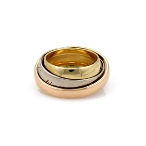 Cartier Ring 18k White Yellow Rose Gold Size 4.25