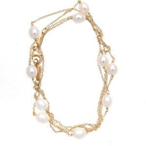 Tiffany & Co. Elsa Peretti 18K Yellow Gold Cultured Pearls By The Yard Necklace