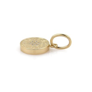 Tiffany & Co. 1837 18K Yellow Gold & Diamond Round Pendant