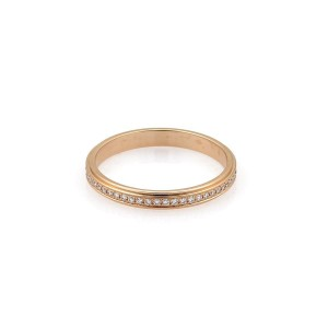 Cartier D Amour 18k Rose Gold With Diamond Eternity Ring Size 4 75
