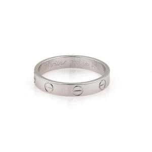 Cartier Love 18K White Gold Ring Size 7.25