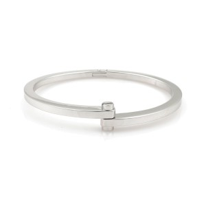 Cartier Menotte Screw Motif Bangle Bracelet 18K White Gold