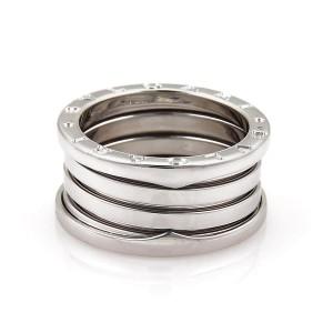 Bulgari B Zero-1 18K White Gold 11mm Band Ring Size 4.75