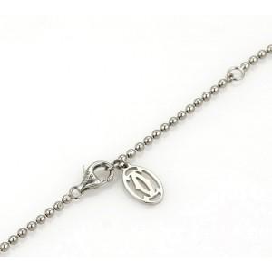Cartier Bead Chain 18k White Gold