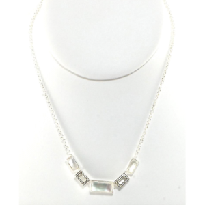 Ippolita 925 Sterling Silver with Mother Of Pearl and Diamond Stella Necklace
