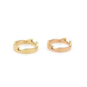 8K Yellow Gold Ring Size 8
