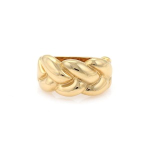 Cartier 1990 18K Yellow Gold Ring Size 5