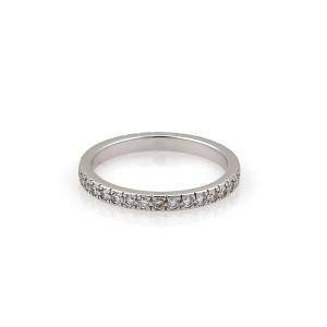 Tiffany & Co. Diamond Platinum Diamond Wedding Ring Size 5