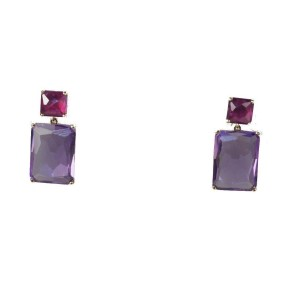 Ippolita 18K Yellow Gold with Ruby and Amethyst Drop Earrings