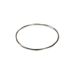 Ippolita 925 Sterling Silver Classico Thin Faceted Plain Bangle Bracelet