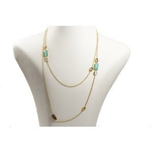 Ippolita 18K Yellow Gold with Multi Stone Rock Candy Sailor Necklace
