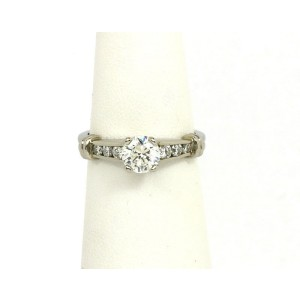 a4554524c Scott Kay Diamond Platinum Mounting Solitaire w/Accent Engagement Ring