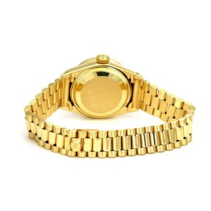 Rolex Oyster Date Just President  Diamond 18k Gold Ladies Watch 6917