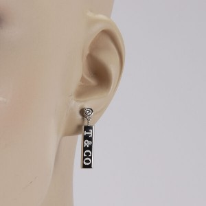 Tiffany & Co. Italy 18K White Gold Diamond Dangle Earrings