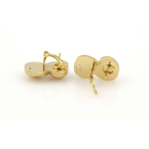 Tiffany & Co. 18K Yellow Gold Spiral Huggie Earrings