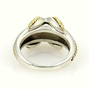 Tiffany & Co. Sterling 18k Yellow Gold X Crossover Ring Size - 5.25