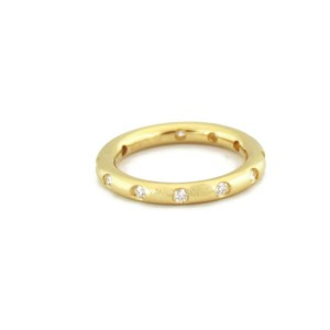 Tiffany & Co. Diamond 18k Yellow Gold 2.5mm Dome Band Ring Size - 5