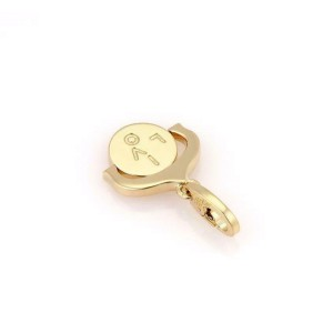 "Cartier 18k Yellow Gold ""I LOVE YOU"" Spinner Pendant Charm"