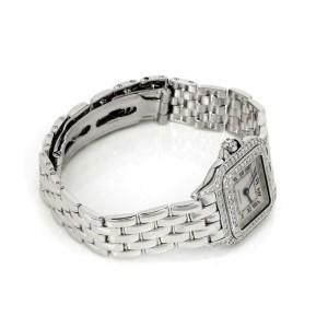 Cartier Panthere Diamond 18k White Gold Ladies Wrist Watch Quartz 1660