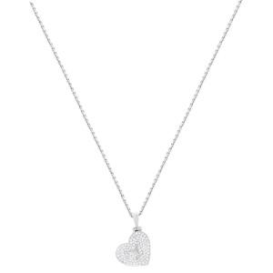 Louis Vuitton Diamond 18K White Gold Heart Pendant Ladies Necklace 0.50 Cttw