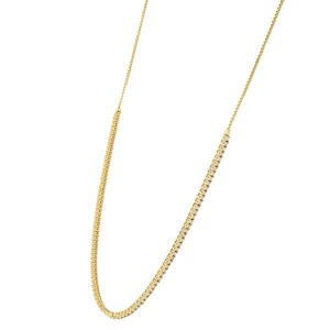 Rachel Koen 3.20cttw Bolo Diamond Necklace 14K Yellow Gold