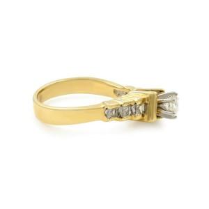 Rachel Koen 14K Yellow Gold Diamond Accepted Womens Engagement Ring 0.62 Cttw