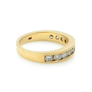 Rachel Koen 14K Yellow Gold Diamonds Ladies Wedding Band 1.00Cttw Size 6.25