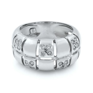 Rachel Koen 14k White Gold & Appx. 0.30 Cttw Diamonds Ladies Ring Size 7.5