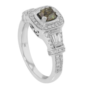 Rachel Koen 14K White Gold Diamond Accented Womens Engagement Ring 1.94 Cttw