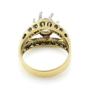 Rachel Koen 14K Yellow Gold Diamond Accented Engagement Ladies Ring Size 7.5