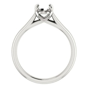Rachel Koen Oval Cut Diamond Solitaire Engagement Ring Mounting 14K White Gold