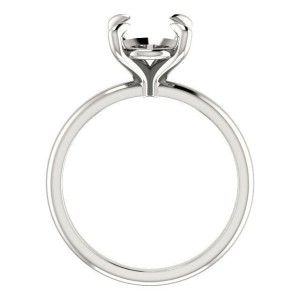 Rachel Koen Prong Oval Cut Solitaire Engagement Ring Mounting 14K Gold Size 6.6