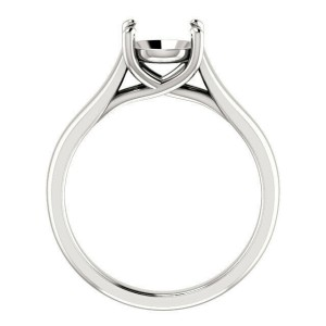 Rachel Koen Platinum Cathedral Engagement Ring Mounting Size 6.5