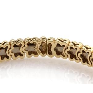 2.20ct Diamonds 14k Yellow Gold Floral Link Open Flex Band Bracelet
