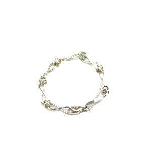 Tiffany & Co. Picasso Sterling Infinity Cross Link Bracelet