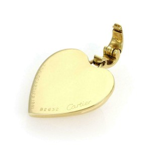 Cartier Vintage 1991 18k Yellow Gold Puffed Heart Pendant