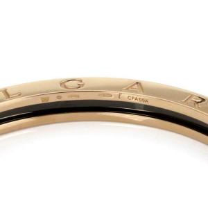 "Bvlgari Bulgari B Zero-1  Black Ceramic 18k Rose Gold Bangle 7.5"""