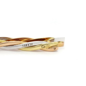 Cartier 18k Tri-Color Gold Braided Style Tie Bar Clip