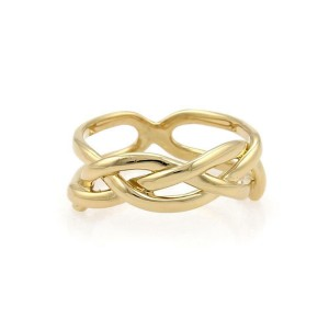 Tiffany & Co. Vintage 18k Yellow Gold Infinity Band Ring Size - 4