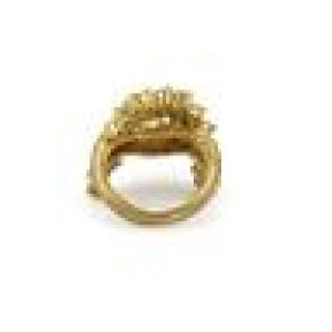 Jose Hess 2.00ct Diamond 18k Yellow Gold Interlace Design Band Ring Size 6