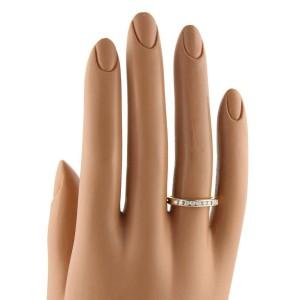 Tiffany & Co. Channel Set Diamond 18k Yellow Gold Band Ring Size 6.5