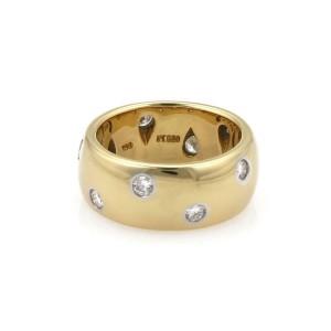 Tiffany & Co. ETOILE Diamond Platinum 18k Yellow Gold 7.5mm Wide Ring Size 4.25