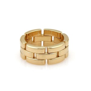 Cartier Maillon Panthere 18k Y/G 8mm Wide Band Ring Size 52-US 5.75 with Paper